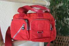 KIPLING RED NYLON M DOCTOR / HOBO BAG / MESSENGER X-BODY BAG