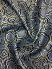 "Designers Brocade Zari Blue / Silver / Black 57"""