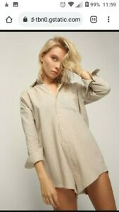 Arthur Apparel Natural Lounger 8 Shirt Romper Playsuit Linen Cotton