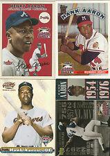 2000 MLB ALL-STAR GAME HANK AARON COMMEMORATIVE SET OF 4 CARDS BRAVES HOF 8035