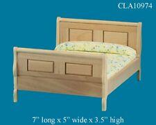 OAK SLEIGH BED 1:12 SCALE DOLLHOUSE MINIATURES