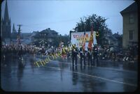 Portland Oregon Street Scene Parade 1950s 35mm Slide Red Border Kodachrome Flag
