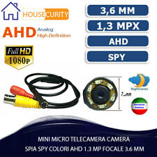 MINI MICRO TELECAMERA CAMERA SPIA SPY COLORI AHD 1.3 MP FOCALE 3.6 MM 6 LED SMD