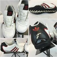 Adidas Goodyear Driving Shoes Sz 6 White Red Stripe Leather Mint Cond YGI E8