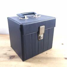 "Vintage 7"" singles Blue vinyl carry case - Retro Record Box"