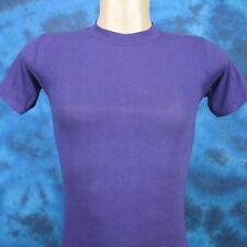 vintage 70s BLANK PURPLE SPORT-T PAPER THIN T-Shirt XXS/XS beach surf soft 80s