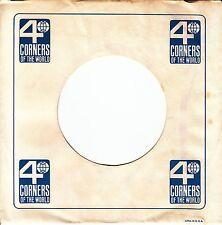 "Company Sleeve 45 Kapp / Four Corners - White W/ Blue ""4 Corners Of The World"""