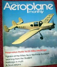 Aeroplane Monthly Magazine 1975 May Miles Messenger,Northrop Scorpion,Hudson