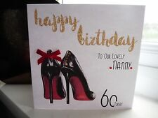 Personalised Female Louboutin Shoes Birthday Card 18th 21st 30th 40th 50th 60th
