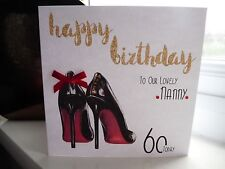 Personalised Female Designer Shoes Birthday Card 18th 21st 30th 40th 50th 60th