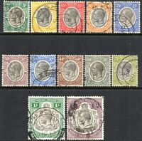1927 Tanganyika Sg 93/103 Short Set of 12 Values Good to Fine Used