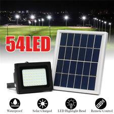54/80 LED Solar Flood Light Outdoor Garden Security Wall Lamp Spot  L K