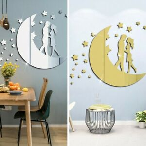 Creative Wall Stickers DIY Decoration Home Mirror Removable Acrylic Art