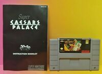 Caesars Palace & Manual *Authentic* Super Nintendo SNES Game Tested and Working
