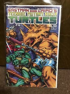 Teenage Mutant Ninja Turtles #6 NM White Pages Mirage Studios 1986 9.4/9.6