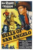 OLD LARGE ROY ROGERS COWBOY MOVIE POSTER, Bells Of San Angelo 1947