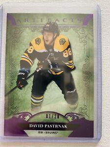 2020-21 DAVID PASTRNAK UPPER DECK ARTIFACTS PURPLE PARALLEL 01/20 BOSTON BRUINS