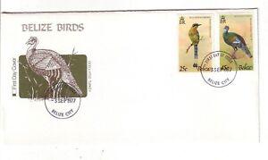Belize 1st Day Scott# 389, 391 - Birds - Fleetwood