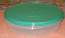 """Tupperware Pie Cookies Cupcake & Pizza Container 12"""" Round Aqua Seal New"""