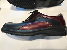 Finn Comfort Black and Burgundy Lace Up Shoes Size 5