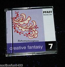 Pfaff Creative Fantasy #7 Richelieu Lace & Floral  Embroidery Machine Card