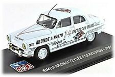 W86 Simca Aronde Elysee Des Records 1957 1/43 Scale Blue New in Display Case