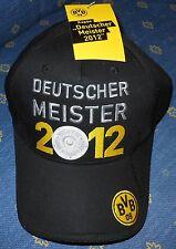 Borussia Dortmund + Basecap + Deutscher Meister 2012 + Lizenz + NEU + Kult +
