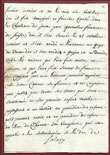 Manoscritto 1721 Incarcerazione Marchese Falavy dal Duca d'Orleans Adulterio