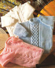 Baby Cardigans & Sweater 3 Different Designs Useful 4 Ply Knitting Pattern