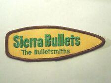 Vintage Sierra Bullets The Bulletsmiths Bullet Shape Iron on Patch