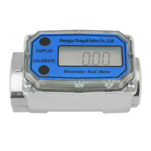 LED Digital Diesel Fuel Flow Meter Flowmeter For Chemicals Measure Diesel AU