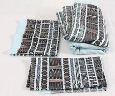Harwood Steiger Lot HUGE Piece Vintage Fabric 95x98 Inca II Blue Tribal Tiki