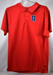 Young Men's IZOD Short Sleeve Uniform Polo Performance Shirt, Red