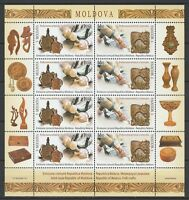 "Moldova 2016 ""Wood Carving"" Joint Issue with Belarus Sheet 8 MNH stamps"