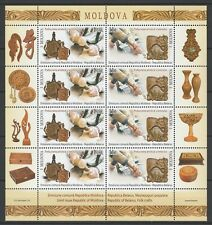 """Moldova 2016 """"Wood Carving"""" Joint Issue with Belarus Sheet 8 MNH stamps"""