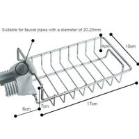 Sink Tap Holder Hanging Faucet Storage Rack Sponge Dishcloth Clamp Shelf N6R8