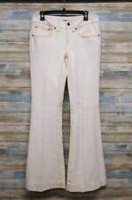 Elie Tahari Flare Leg Women's White Stretch Jeans 8 x 33  (B-78)
