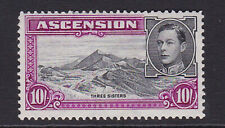 Ascension. 1944. SG 47, 10/- black & bright purple. Perf 13. Fine mounted mint.