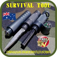PROFESSIONAL SURVIVAL TOOL TACTICAL MULTI FUNCTION SELF DEFENSE KNIFE-FLINT-AU