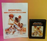 Atari 2600 Basketball Game & Instruction Manual Tested Works Rare