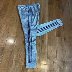 Boys Adidas Joggers Sweatpants Gray Stripes Polyester XL (18/20)