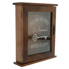 Vintage Style Wall Mounted Wooden Key Holder Storage Box Key Cabinet -Brown