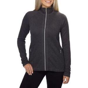 Kirkland Signature Women's Full Zip Jacket Noir Heather / Charcoal Grey