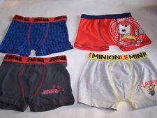 lot de 4 boxers enfant  - 6/8 ans