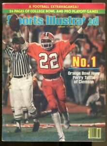 Clemson Football Champs 1982 Sports Illustrated No Label 1/11 Perry Tuttle Ex/MT