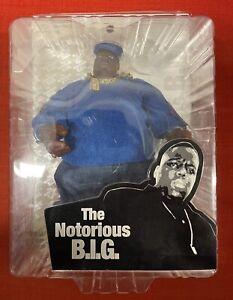 "Mezco The Notorious B.I.G. Biggie Smalls Blue Sweater 9"" Action Figure. NIB"