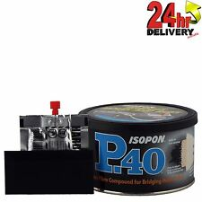 Freepost U-pol Isopon P40 Fibre Glass Body Filler 250ml Very Durable Waterproof
