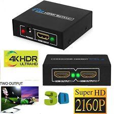 2160p 1 en 2 salidas 1 entrada 2 salida HDMI Splitter Hub caja de interruptor de 2 vías 4K + 3D