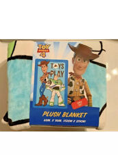 Toy Story 4 Woody Buzz At Play Soft Plush Blanket Disney Pixar 60 x 90 Inches