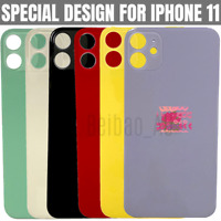 For Apple iPhone 11 Battery Cover Back Glass Rear Housing Replacement Big Hole